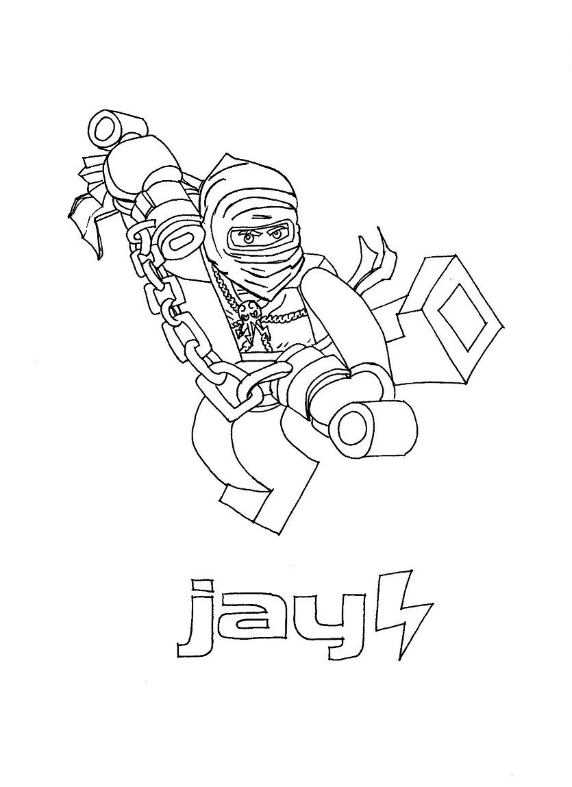 Free Ninja Jay Coloring Pages