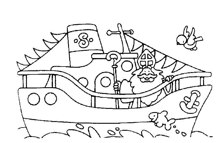 Kleurplaten Sinterklaas Stoomboot.Leuke Kleurplaten Om Te Kleuren Voor Sinterklaas